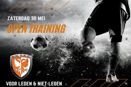 Open voetbaltraining bij sv TEC