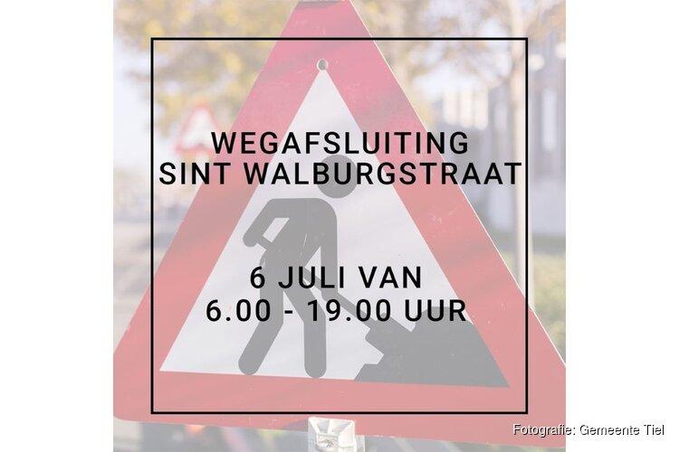 Sint Walburgstraat vanaf maandag afgesloten wegens werkzaamheden